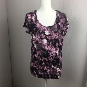 Simply Vera purple and black short sleeved t-shirt